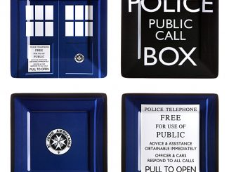 Doctor Who Melamine Square Plate Set