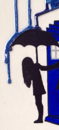 Doctor Who Melted Crayon Art Girl Detail