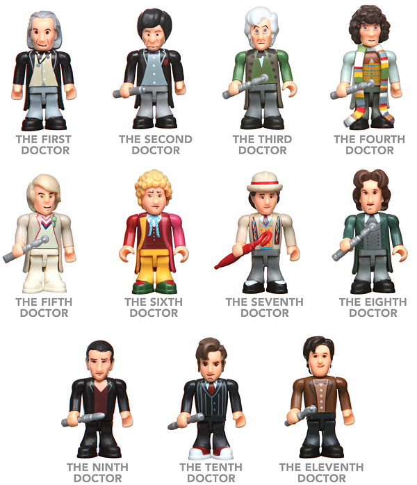 Doctor Who Mini Figure Set of 11 Doctors
