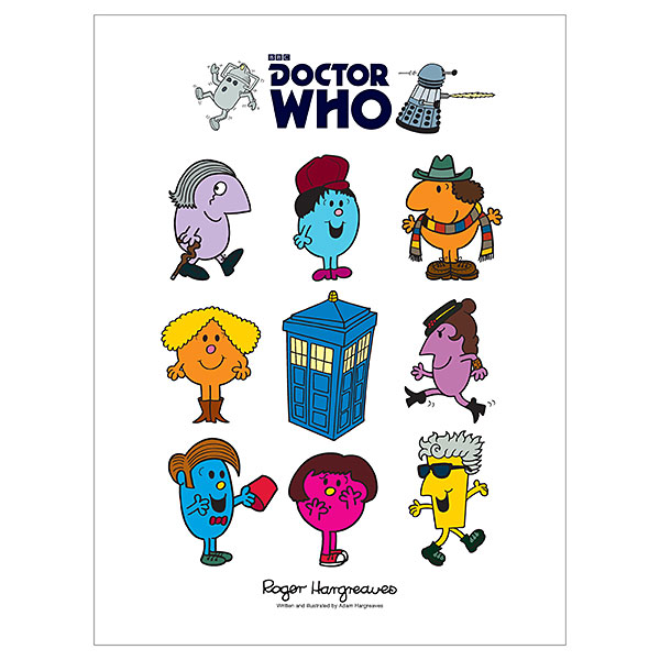 Doctor Who Mr. Men - Exclusive Bundle w Poster