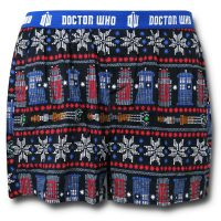 Doctor Who Pattern Boxer Shorts