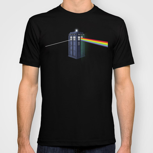 Doctor Who Pink Floyd Dark Side of the Booth T-Shirt