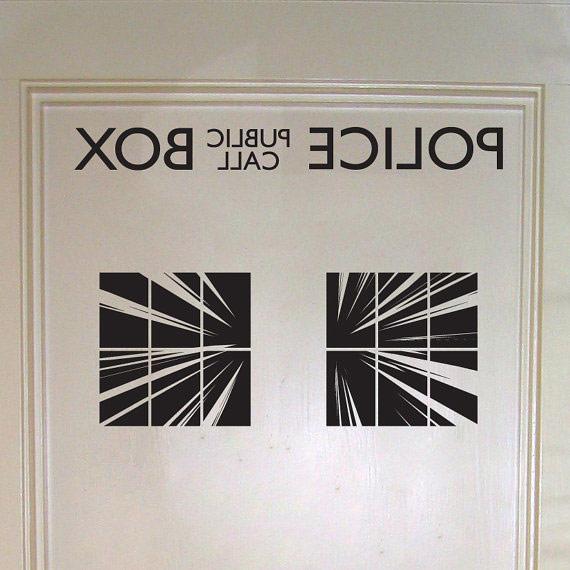 Doctor Who Police Box Interior Door Decal Geekalerts