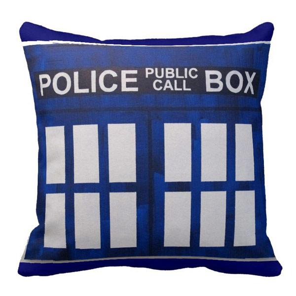Doctor Who Police Box TARDIS Pillow