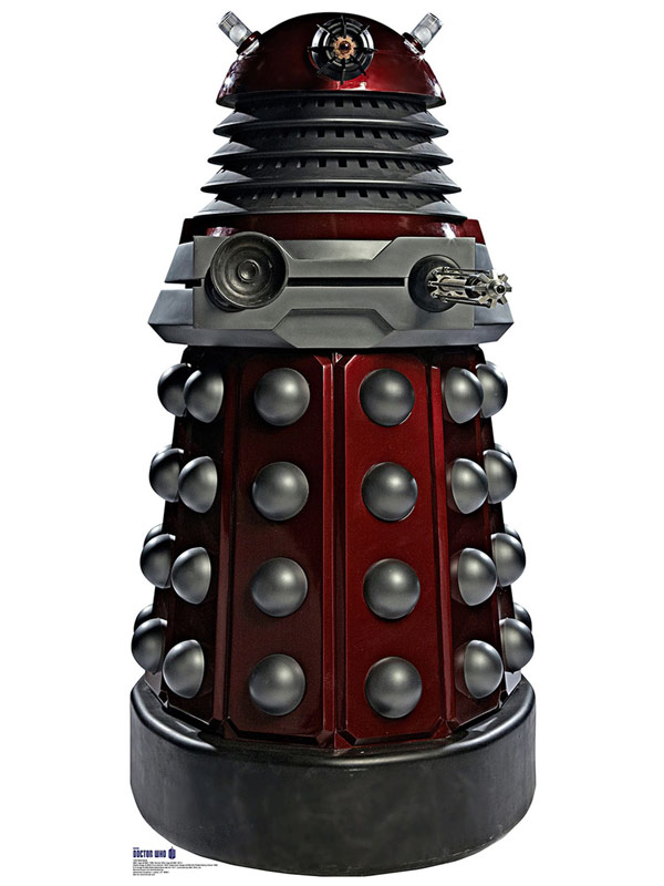 Doctor Who Red Dalek Cardboard Cutout