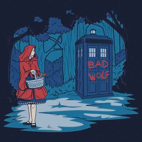 Doctor Who Red Riding Hood Bad Wolf TShirt