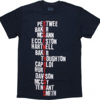 Doctor Who Regenerations Names T-Shirt
