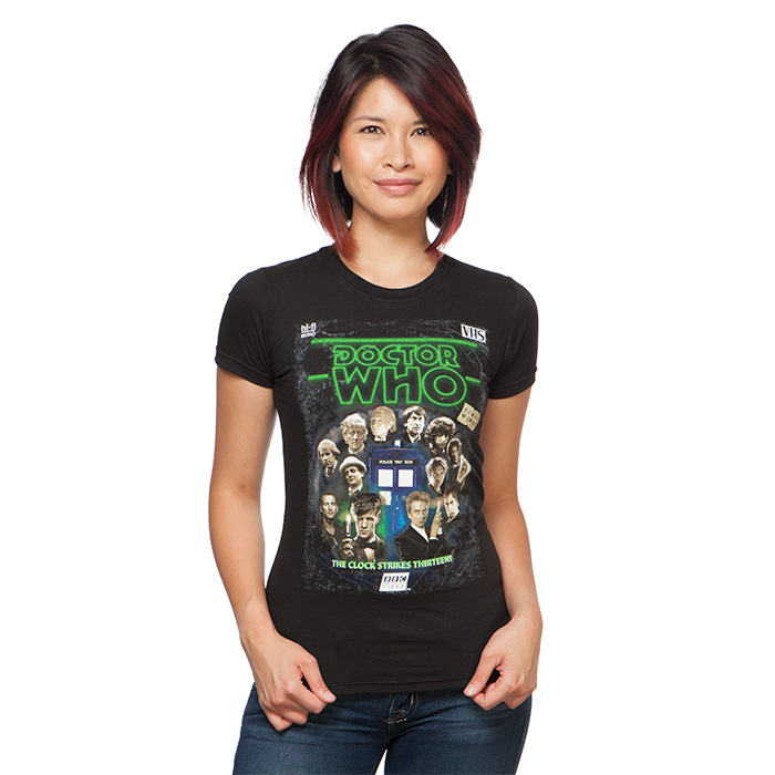 Doctor Who Retro VHS with All Doctors Ladies' T-Shirt