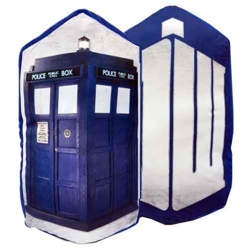 Doctor Who Reverse to TARDIS Cushion