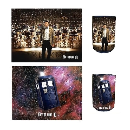 Doctor Who Reversible Tardis & Dalek Talking Trash Bin