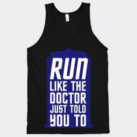 Doctor Who Run Like The Doctor Just Told You To Tank Top