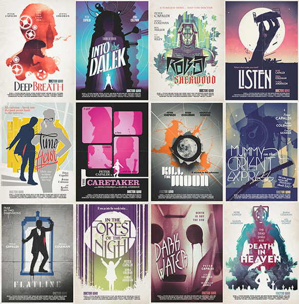 Doctor Who Series 8 Retro Poster Collection