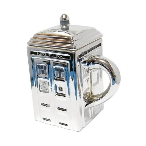 Doctor Who Silver TARDIS Mug