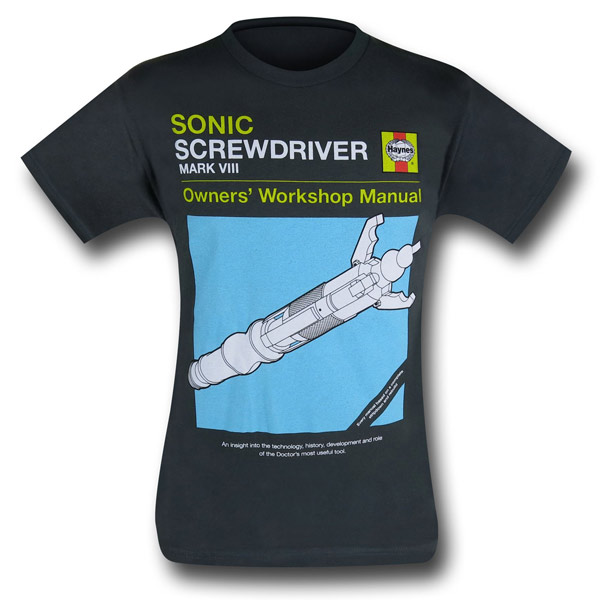 Doctor Who Sonic Screwdriver Haynes Manual Shirt