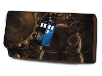 Doctor Who Spiraling Cog TARDIS Purse