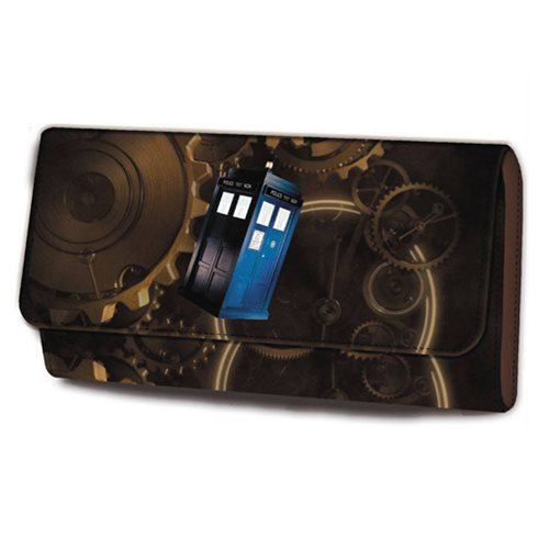 Doctor Who Spiraling Cog TARDIS Purse