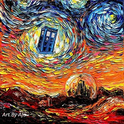 Doctor Who Starry Night Print
