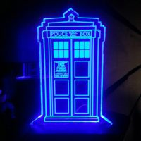 Doctor Who TARDIS Acrylic Display Sign - small