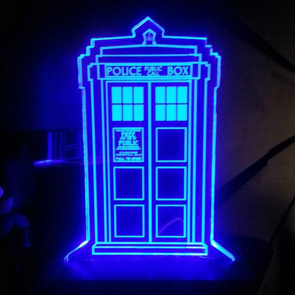 Doctor Who TARDIS Acrylic Display Sign - small