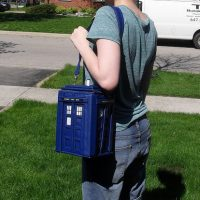 Doctor Who TARDIS Backpack as Handbag
