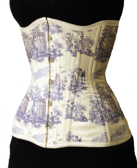 Doctor Who TARDIS Corsets - Doctor Who Toile Long Line Corset