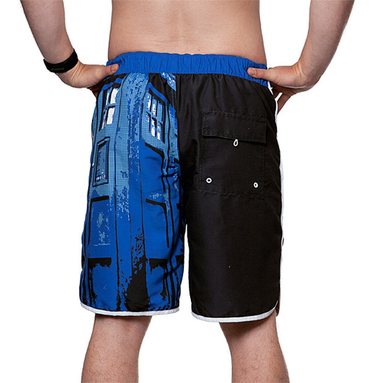 Doctor Who TARDIS Door Board Shorts Back