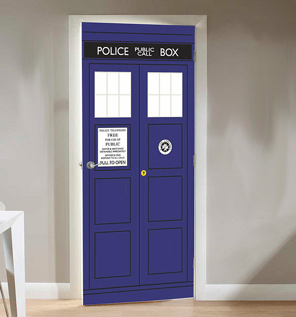 Doctor Who TARDIS Door Cling