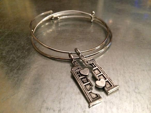 Doctor Who TARDIS Double Heart Friendship Bracelet