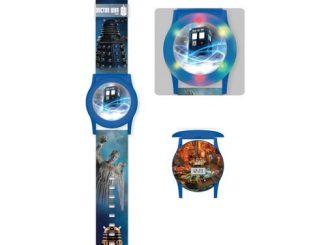 Doctor Who TARDIS Flashing Light-Up Blue Watch