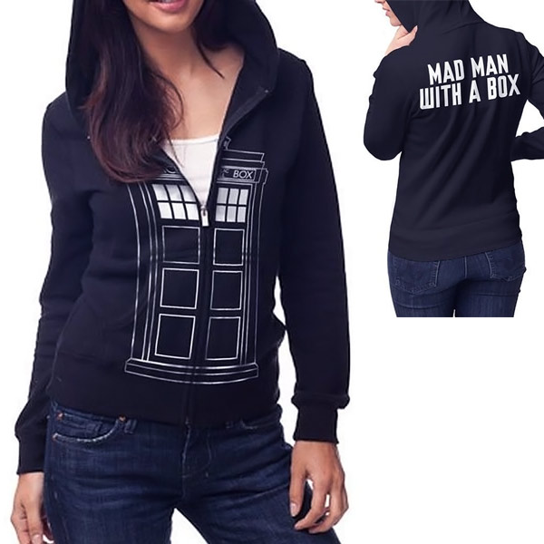 Doctor Who TARDIS Juniors Navy Zip-Up Hoodie