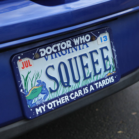 Doctor Who TARDIS License Plate Frame