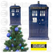 Doctor Who TARDIS Light-Up Holiday Tree Topper