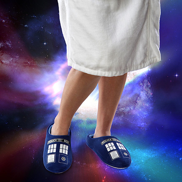 Doctor Who TARDIS Plush Slippers