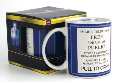 Doctor Who TARDIS Police Box Sign Mug