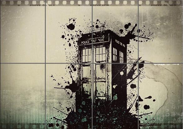 Doctor Who TARDIS Poster Print