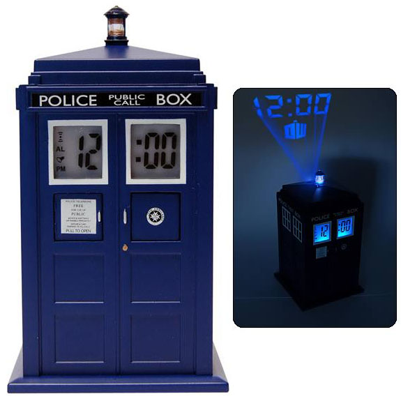 Doctor who tardis projection alarm clock - Tardis alarm clock ...
