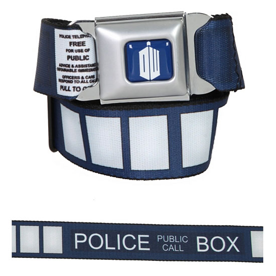 Doctor Who TARDIS Seat Belt Styled Belt
