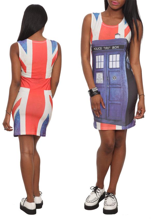 Doctor Who TARDIS Union Jack Dress