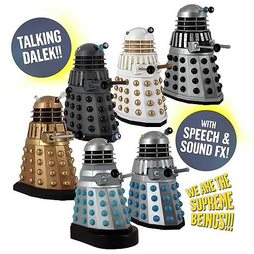 Doctor Who Talking Dalek 5 Inch Action Figure Set