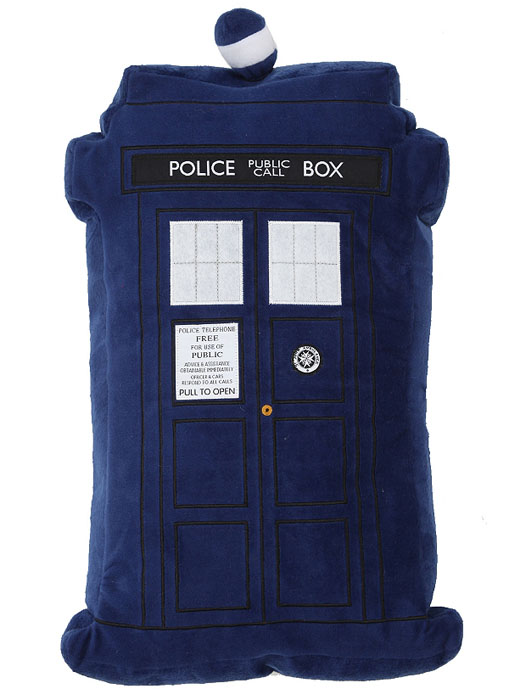 Doctor Who Tardis Decorative Pillow