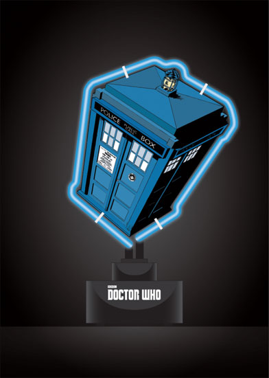 Doctor Who Tardis PVC Neon Table Light
