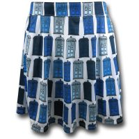 Doctor Who Tardis Print Skirt