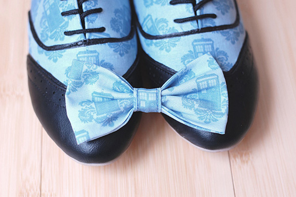 Doctor Who Tardis Womens Oxfords with Free Matching Bow