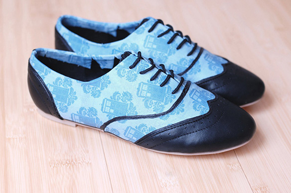 Doctor Who Tardis Womens Oxfords