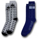 Doctor Who Tardis and Dalek Mens Socks