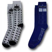 Doctor Who Tardis and Dalek Mens Socks