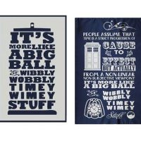 Doctor Who Timey Wimey Dish Towels