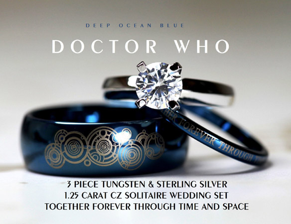 doctor who 39together forever39 wedding ring set With doctor who wedding ring set
