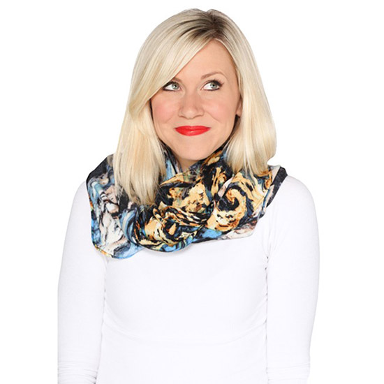 Doctor Who Van Gogh Exploding TARDIS Infinity Scarf