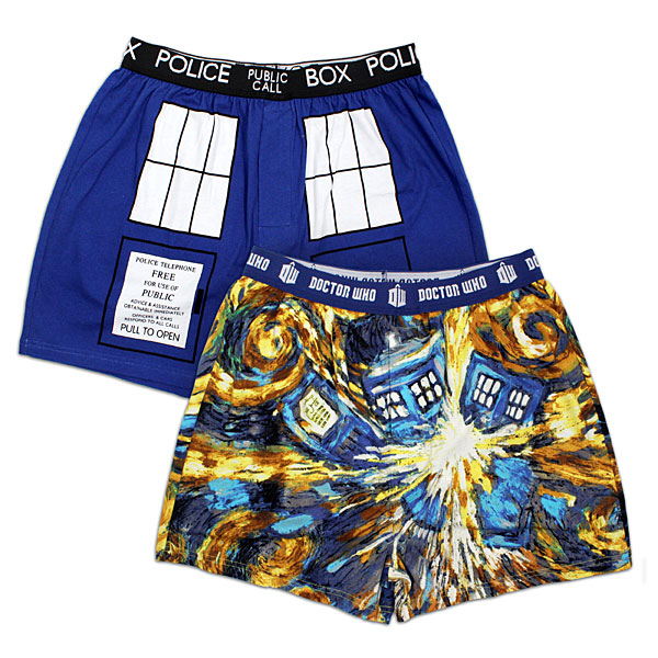 Doctor Who Van Gogh TARDIS Boxer Briefs 2-pack